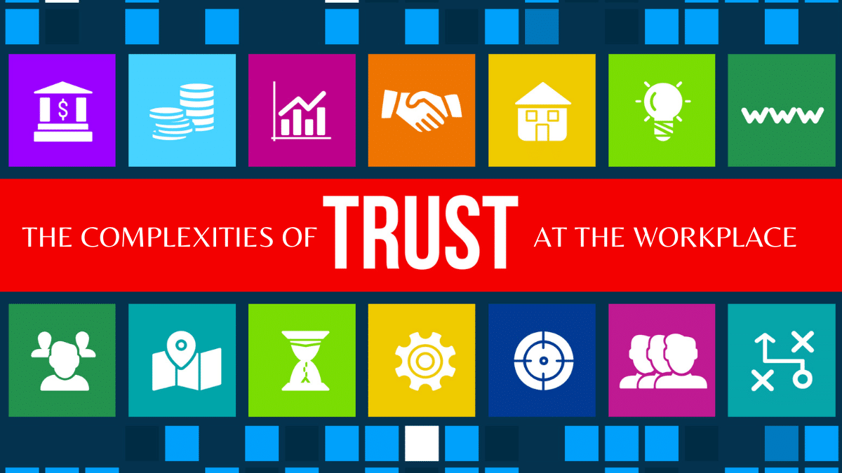 Image of trust with business symbols